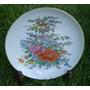 Prato De Parede Antigo Flores Decorativo Coleção