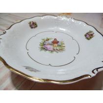 Prato Decorativo De Porcelana Polonesa Antigo