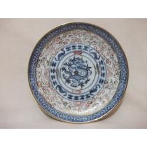 B. Antigo - Pratinho Ou Pires De Parede Em Porcelana Chinesa