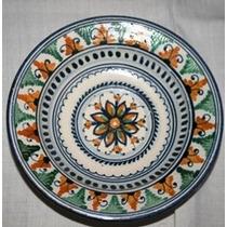 Prato De Porcelana Pintado A Mão,desenhos Florais,italiano
