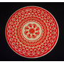 Lindo Prato Decorativo Vermelho Branco Inspiração Oriental