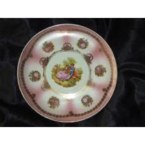 Elegante Prato Rosa Vintage Porc.real/dp,dec.ouro18k,déc.70