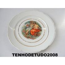 Prato Decorativo Cena Galante Porcelana Real Cchic