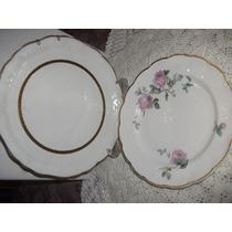 2 Pratos Raso Porcelana Real..