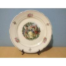 Oferta Prato Antigo Com Motivos Ingleses Porcelana Real