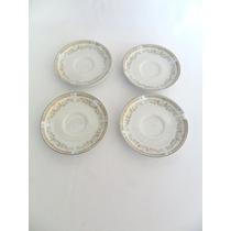 Pires Para Xícara De Café Porcelana Schmidt Decorados 4 Unid