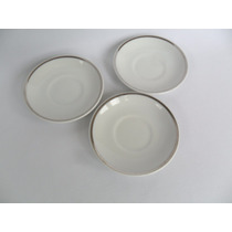 Pires Para Xícara De Café Porcelana Branca Real 03 Unid