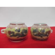 B. Antigo - Par De Vasinhos Antigos Em Porcelana Chinesa