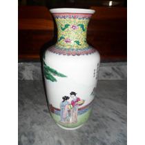 Vaso Antigo De Porcelana Chinesa Anos Setenta