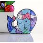 Romero Britto Mini Whale Baleia Nova Coleção Miniaturas 6cm