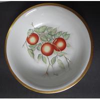 Bowl Tigela Déc. 1960 Pintado A Mão- Porcelana Real Ouro 24k
