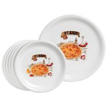 Conjunto Pizza Em Cerâmica 7 Peças