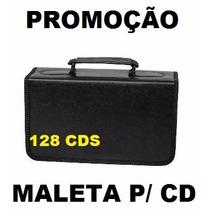 Maleta Porta Cd Dvd Bluey Corino Case P/ 128 Mídias