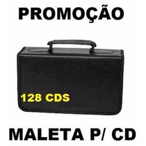 Maleta Porta Cd Dvd Bluey Corino Case P/ 128 Mídias Promoção