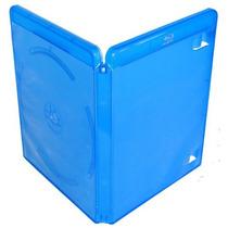 Estojo Capa Box Azul P/ Bluray Dvd Cd Amaray 10 Unidades
