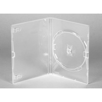 10 Estojos Capa Box Transparente P/ Dvd Xbox360 Filme Amaray