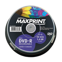 Mini Dvd-r 30min 1.4gb 1x-4x Maxprint 502591