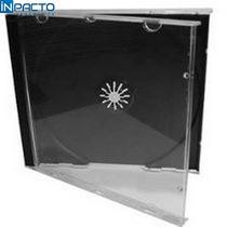 Porta Cd/ Dvd Acrilico Transparente Preto Un.