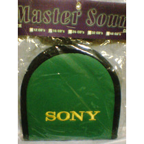 Porta Cd Sony Bordada Courino Para 16 Midias Cor Verde