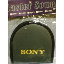 Porta Cd Sony Bordada Courino Para 16 Midias Cor Cinza