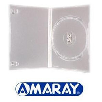 100 Capa Caixinha Dvd Amaray Ou Pack - Preta Ou Transparente