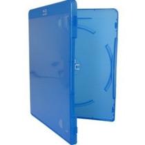 10 Estojo Capa Dvd Box Blu-ray Azul Grosso 14mm Novo 10 Pçs