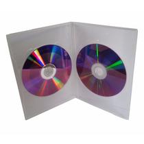 100 Capa Pra 2 Dvd Slim Dupla Amaray Box Estojo Transparente
