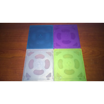 Case / Capa Para 4 Cds / Dvds Ou Blu-rays (kit Com 10 Unid)