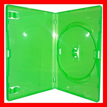 1 Box Estojo Dvd Verde Amaray Serve Para Xbox360 / Filmes