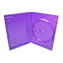 25 Estojo Capa Box Lilás Para Dvd Xbox360 Filme Amaray