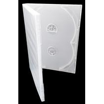 100 Capas Box Para Cd / Dvd Quadruplos Transparentes