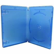 Estojo Capa Dvd Box Blu-ray Azul Grosso Com 10 Unidades Novo