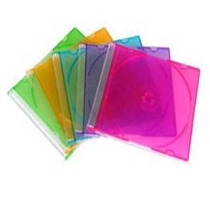 10 Mini Caixas Acrilicas Slim Para Mini Cd / Dvd - Coloridas