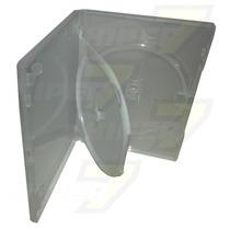 10 Estojo Capa Box Duplo Transparente Para Dvd Filme Amaray