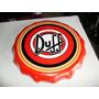 Placa Decorativa Tampa De Garrafa Duff Em Ceramica