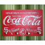 Porta Chave Placa Decorativa Retrô Vintage Coca-cola Quadro