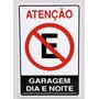Placa Garagem / Placa Proibido Estacionar
