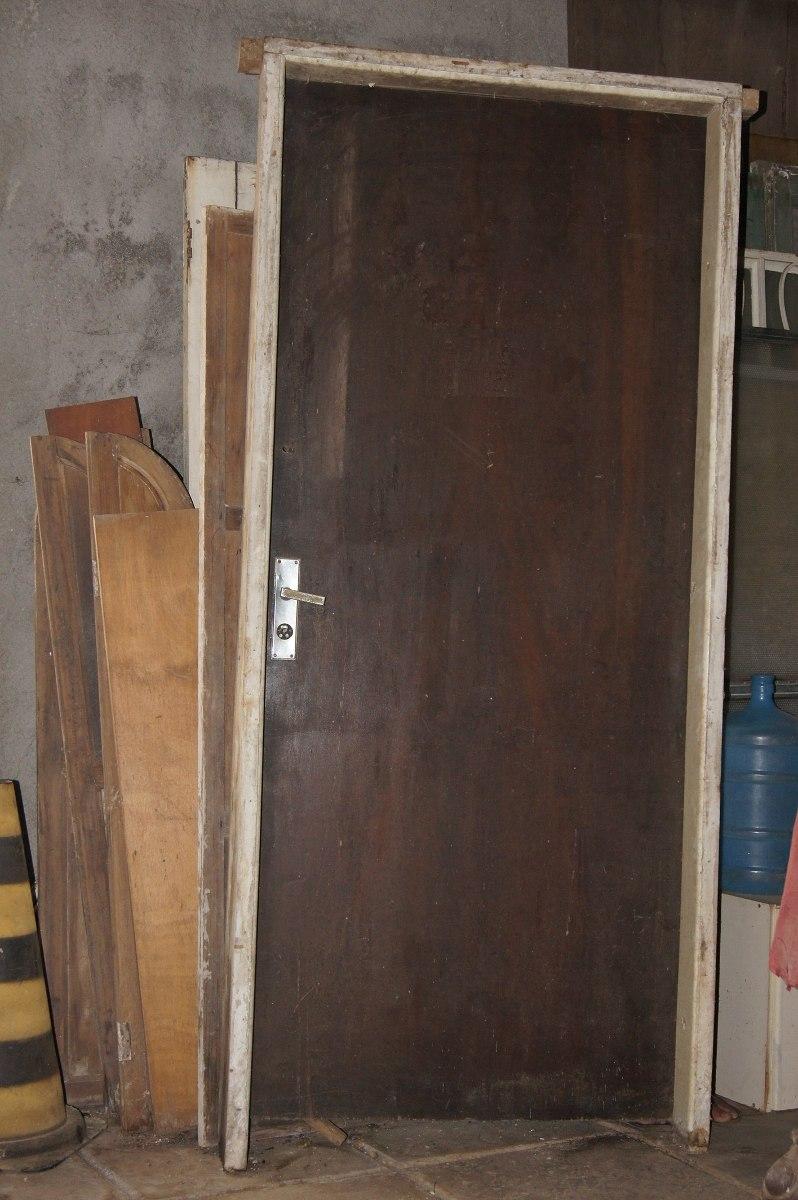Porta De Madeira Para Quarto Valor ~ Porta De Madeira Antiga Para Quarto Em ?timo Estado Completa  R$ 800
