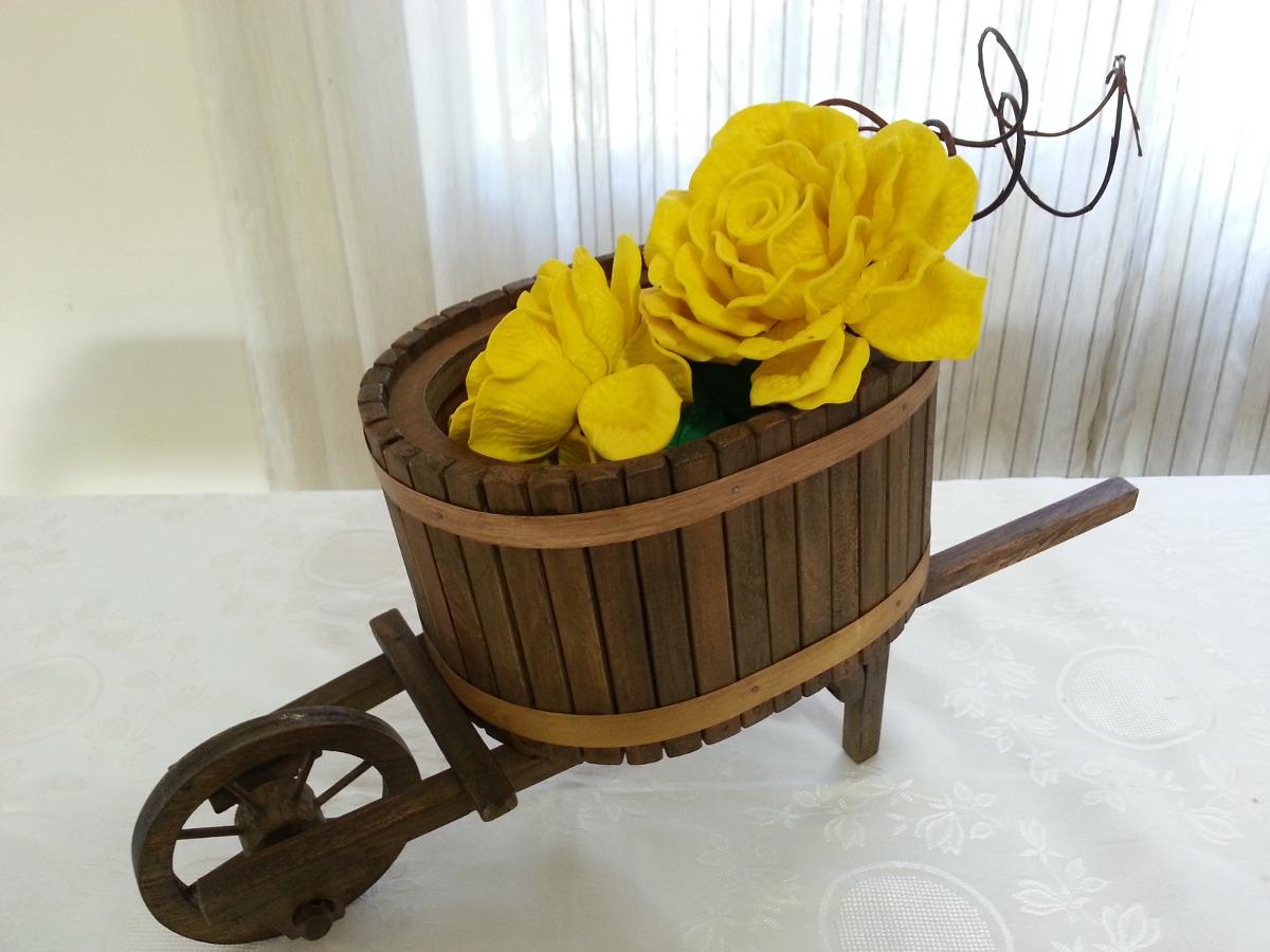 Porta Flores Orquideas carrinho De Mão Artesanat Em Madeira R$ 119  #C09B02 1200x900