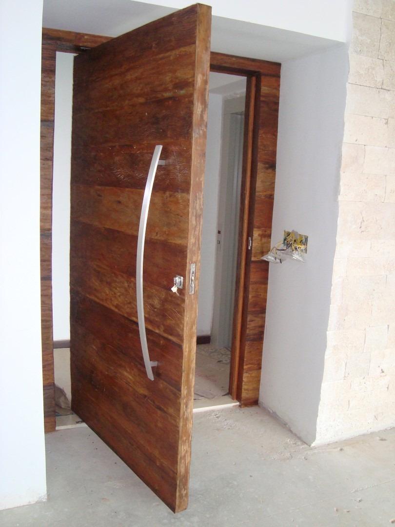 Porta pivotante de madeira peroba rosa pre o por m2 for Porta 1 20