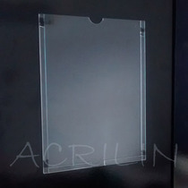 10 Uni. A4 Porta Aviso De Parede Acrílico Cristal - Fita 3m