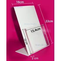 Display Porta Folder 15x21cm Vertical Acrílico Take One A5