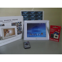 Retrato Digital 8 C/ Bluetooth, Mp3, Usb, Controle + 8gb!