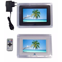 Porta Retrato Digital Lcd 7 Pol + Controle + Fonte Bivolt