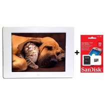 Porta Retrato Digital Tela 12 + Cartão De Memória 32gb