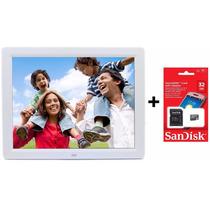 Porta Retrato Digital Tela 10 + Cartão De Memória 32gb
