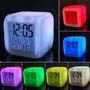 Despertador Cubo Led Alarme Relógio 7 Cores