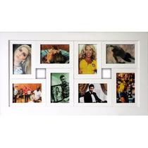Porta Retrato P/ 8 Fotos Quadro Painel P/ Parede Com Vidro