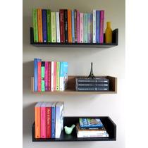 Prateleira Decorativa P/ Livros Mdf Preto Fabricação Própria