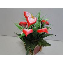 Arranjo Cachepot Flor Artificial Vaso Copo Leite 25x35cm